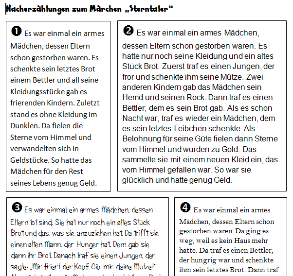 sterntaler märchen text