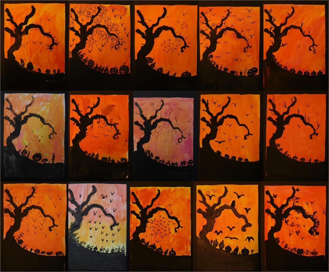 Halloweenbilder In Klasse 3 Primarblog