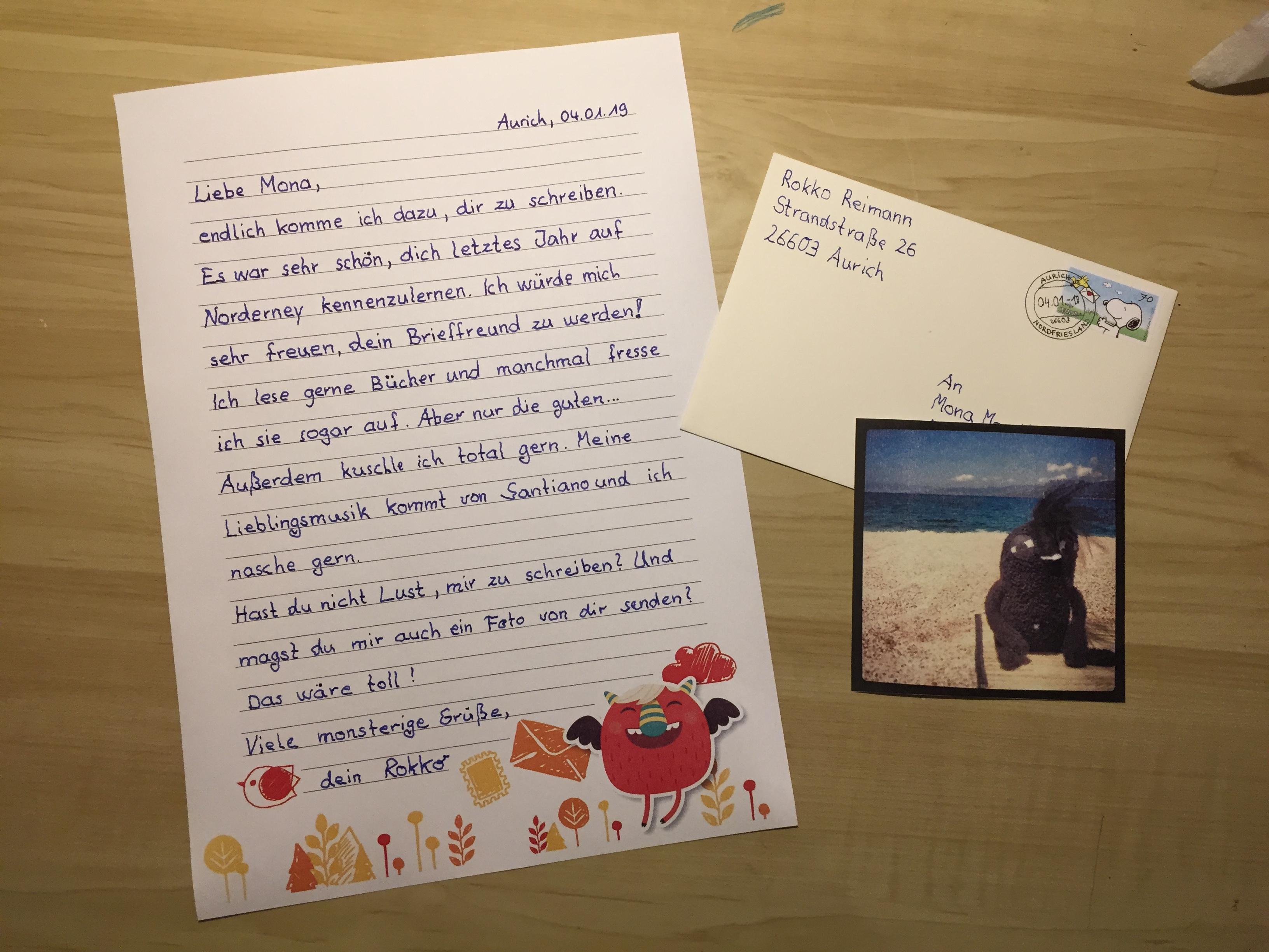 Brief schreiben an urlaubsbekanntschaft